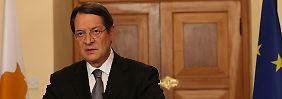 """Zyperns Präsident Anastasiades will """"keine Experimente mit der Zukunft des Landes"""" machen."""