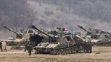 Bei Provokationen aus dem Norden: Südkorea kündigt Härte an