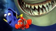 """""""Findet Nemo"""" war 2003 an den Kinokassen ein großer Erfolg (im Hintergrund: der vegetarische Hai Bruce)."""