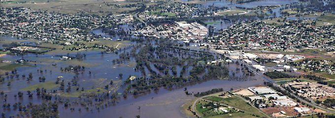 Extremes Hochwasser hatte im vergangenen Jahr der australischen Landwirtschaft schwere Schäden zugefügt.