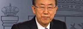 Video: UN-Chef Ban ist zutiefst besorgt