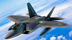 Der Kampfjet F-22 Raptor gehört der Ausrüstung der US-Truppen auf Hawaii.