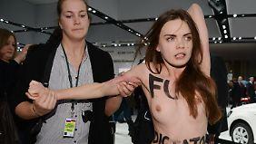 Nackt-Protest auf Hannover Messe: Putin witzelt über Aktivistinnen