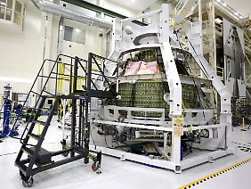 "Das ""Orion Exploration Flight Test 1 crew module"" zum Einfangen des Asteroiden wurde im Januar 2013 im Kennedy Space Center in Cape Canaveral vorgestellt."