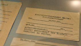 Erlaubnisschein zum Bordellbesuch im KZ Dachau.