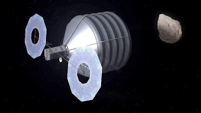 Die US-Raumfahrtbehörde Nasa will einen kleinen Asteroiden einfangen. (Illustration der Nasa)