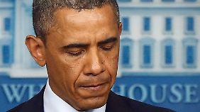 Obama bei einer kurzen Rede an die Nation