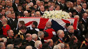 """Trauerfeier für """"Eiserne Lady"""": Tausende nehmen Abschied von Thatcher"""