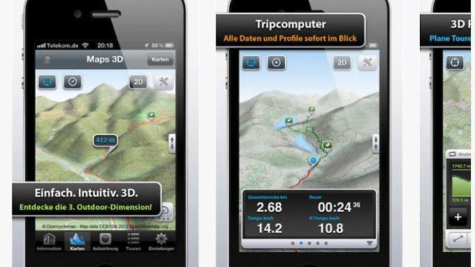 Apple versucht mit seinem Kartendienst  an den Branchen-Primus Google Maps heranzukommen. Foto: iTunes/Apple