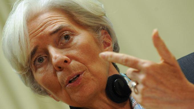 """""""Sie bewegen sich sehr in unbekannten Gewässern"""", sagt IWF-Direktorin Lagarde zur anhaltend lockeren Geldpolitik der Notenbanken."""