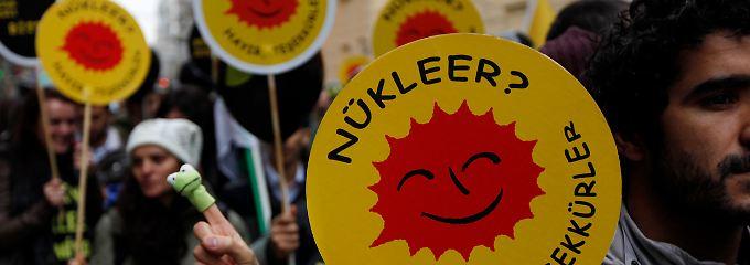 """""""Nuklear? Nein danke"""": In Istanbul löste 2011 schon die Einigung mit Rosatom öffentliche Proteste aus (Archivbild)."""