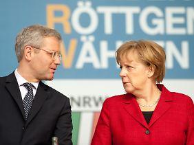 Trennten sich im Streit: Norbert Röttgen und Angela Merkel.
