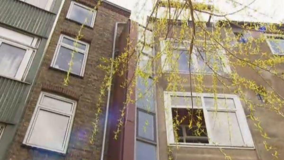 wohnen xxs das schmalste wohnhaus deutschlands n. Black Bedroom Furniture Sets. Home Design Ideas