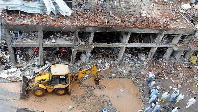 Die Zerstörungen nach der Explosion in Reyhanli.