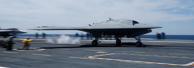 Die modernste Drohne im US-Arsenal: die X-47B.