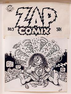 """Die Underground-Comix waren selbst hergestellte Hefte, wie """"Zap Comix"""", mit denen Crumb berühmt wurde."""