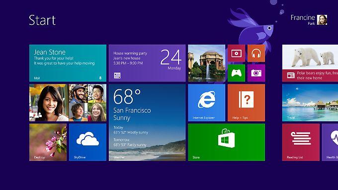 Das Update auf Windows 8.1 ist kostenlos, wenn bereits Windows 8 installiert ist.