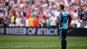 Marc-Andre ter Stegen hat nach drei Länderspielen zwölf Gegentreffer und ein Eigentor zu Buche stehen.