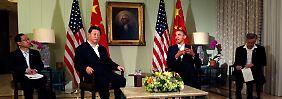 Obama und Xi trafen sich auf dem abgeschiedenen Anwesen des gestorbenen Medienmoguls und Kunstmäzenen Walter Annenberg in Rancho Mirage.