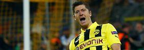 Vier Tore gegen Real Madrid: Robert Lewandowski feiert im Halbfinale der Champions League seinen Erfolg mit Borussia Dortmund.