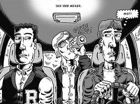 Zum Ende der Schulzeit verfällt Dahmer (M.) immer mehr dem Alkohol. Backderf (am Steuer) ist das langsam unheimlich.
