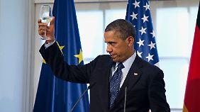 Ein Hoch auf die Freundschaft: Präsident Obama.