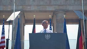 Die Teleprompter versagten Obama ihren Dienst.