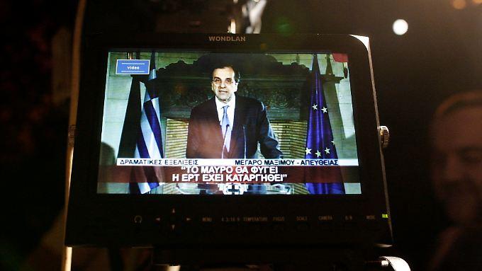 In Bedrängnis: der griechische Regierungschef Antonis Samaras.