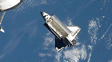 Ein Blick aus der ISS: Sie war das Ziel der letzten Mission der Atlantis im Juli 2011.