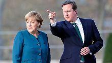 Merkel hatte Cameron im April auf Schloss Meseberg empfangen.