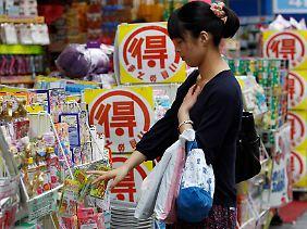 Inflation erwünscht: Im Mai gelingt es der Bank of Japan, den anhaltenden Preisverfall aufzuhalten.