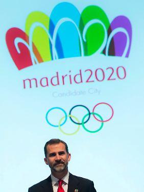 Kronprinz Felipe beeindruckt als Botschafter die IOC-Jury.