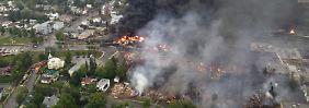 Lac-Mégantic wurde bei dem Unfall auf einer Fläche von zwei Quadratkilometern völlig verwüstet.