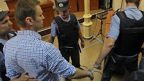 Fünf Jahre Haft für Putin-Gegner: Empörung nach Nawalnys Festnahme