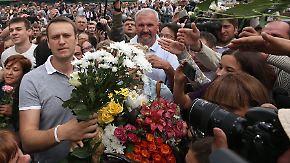 Russische Opposition jubelt: Nawalny will Bürgermeister von Moskau werden