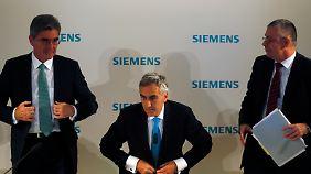 Geht er, bleibt er - Löschers (M.) Zukunft bei Siemens scheint fraglich.