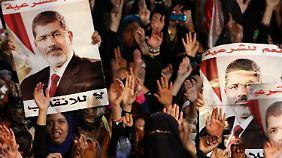 Erneute Zusammenstöße in Ägypten: Mursis Anhänger protestieren gegen Absetzung