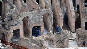 Seit Jahren werden am Kolosseum nur Erhaltungsmaßnahmen durchgeführt.
