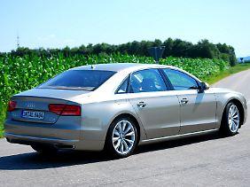 Der Radstand des Audi A8 lang ist fünf Zentimeter länger als bei seinem Vorgänger.