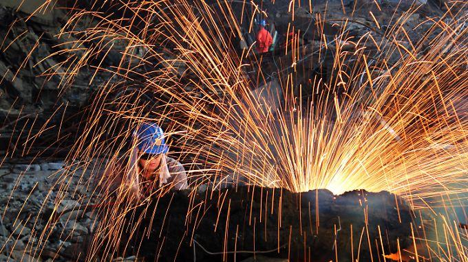 Chinas Industrie wächst - zumindest amtlichen Zahlen zufolge.