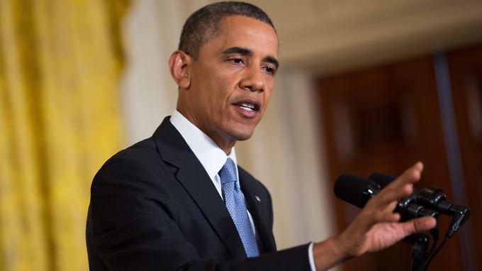 Alles wird gut, scheint der Präsident sagen zu wollen. Er habe die Situation im Griff.