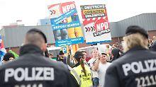 Die rechten Proteste vor dem Hellersdorfer Asylheim treffen auf linke Gegenwehr.
