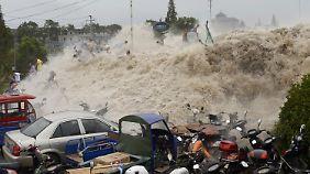Naturspektakel endet im Chaos: Riesenwelle reißt Hunderte Schaulustige mit
