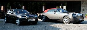 Heute mal die Limousine? Rolls Royce-Modelle Ghost (links) und Drophead Coupé.