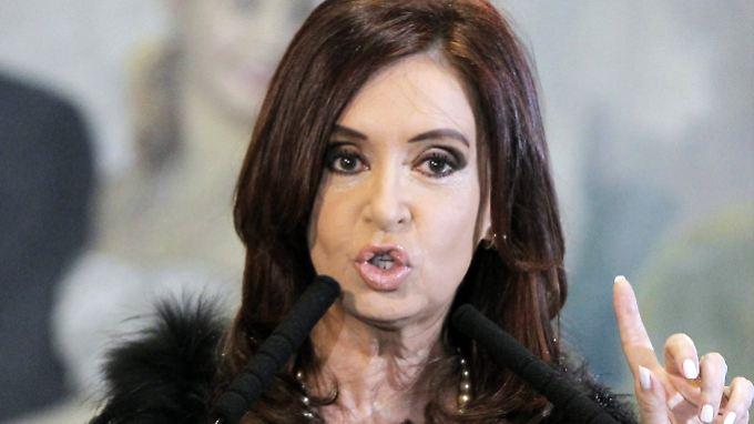 Die Aufnahme zeigt die Präsidentin im vergangenen Jahr - derzeit erholt sie sich von den Folgen einer Gehirnblutung.