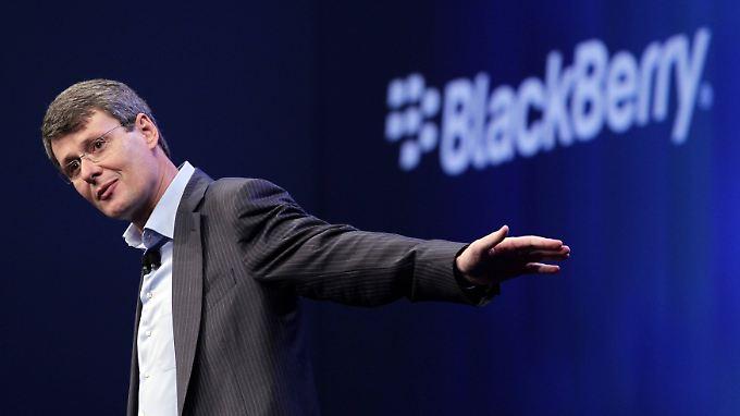 Blackberry-Chef Thorsten Heins drückt auf die Tube.