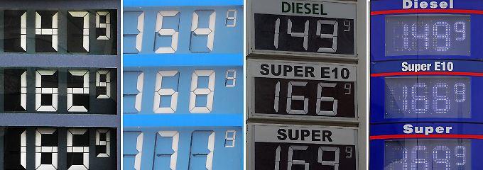Eine Zusammenstellung von Anzeigetafeln an Tankstellen aus ganz Deutschland (Stand: April 2012).