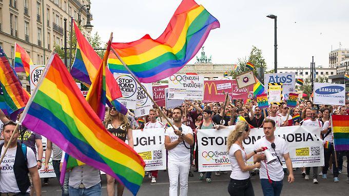 Die Demonstranten fordern die Rücknahme des Gesetzes in Russland.