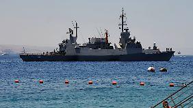 Modern ausgestattete Marine: Israelische Seestreitkräfte üben vor der eigenen Küste offenbar auch die Abwehr von ballistischen Raketen (Archivbild).