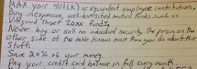 Mehr Finanztipps braucht keiner: Professor twittert Karteikarte